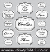 Ornate food storage labels vol1 (vector) — Vettoriale Stock