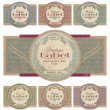 Vector de stock : Vintage labels set (vector)