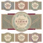 Vintage labels set (vector) — Vector de stock