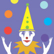 Vector hand drawn clown — Stock Vector