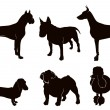 Dog Silhouettes — Stock vektor #5398688