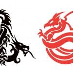 Tattoo Dragon Vector — Stock Vector #5398698