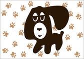 Cartoon puppy — Stock Vector