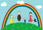 Happyfamily — Stockvektor