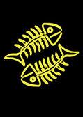 Fish skeleton — Stock vektor