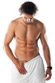 Muscular perfect naked male torso — Stock Photo