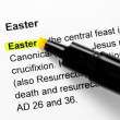 Easter text highlighted in yellow — Stock Photo