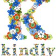 K kindly floral — Stock Vector #5438574