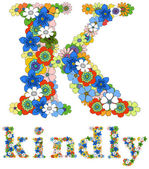 K kindly floral — Stock Vector