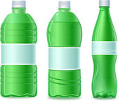 Three water bottle — Stock Vector