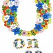 O on off floral pattern - Stock Vector
