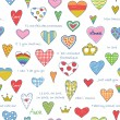 Royalty-Free Stock Vector Image: Heart Love pattern