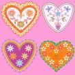 Royalty-Free Stock Vector Image: Hearts collection