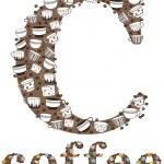 C coffee pattern — Stock Vector
