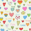 Royalty-Free Stock Vector Image: Love pattern
