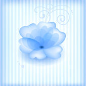 Blue flower. — Stock Vector