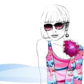Fashion girl. — Stock Vector