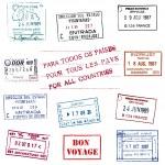 Passport stamps — Stock Vector