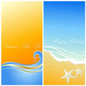 Sea banners — Stock Vector