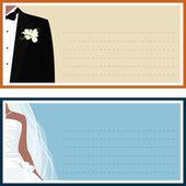 Mariée et le marié — Vecteur