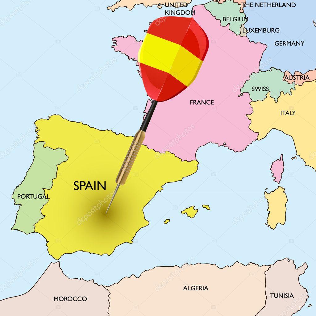 西班牙地图 — 图库矢量图像08