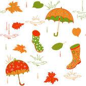 Pattern Autumn — Stock Vector