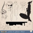 Elegant vintage fashion sketch — Stock Vector #5530982