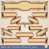 Cinta de frontera para la decoración y diseño — Vector de stock