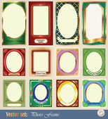 Vector template frame pictures — Stock Vector