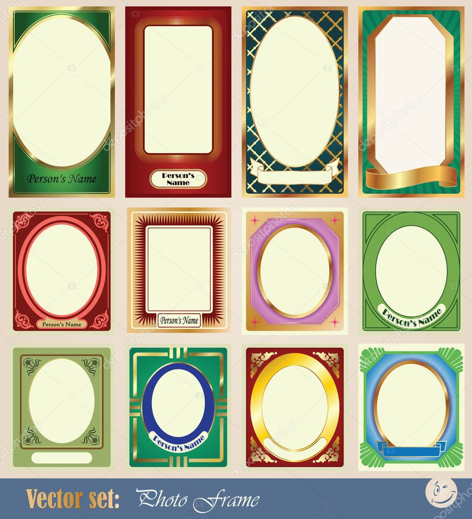 Frame Collage Vector Vector Template Frame Pictures
