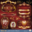 Royalty-Free Stock Vector Image: Gold decoration vector set