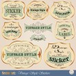 Luxury golden vintage stickers — Imagen vectorial