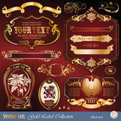 Gold decoration vector set — Stock Vector