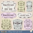 Vintage style labels on different topics — Stock Vector