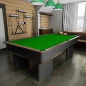 Billiard room — Stock Photo