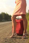 道路上的女孩 — 图库照片