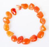 Ring of semi precious stones. Over white — Stock Photo