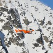 Orange search and rescue chopper — Stock Photo