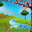 Spring Scene - Imagen vectorial