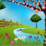 Spring Scene — Stock Vector #5779924