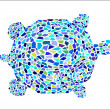 Stock Vector: Mosaic Turtle