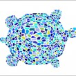 Mosaic Turtle - Stock Vector