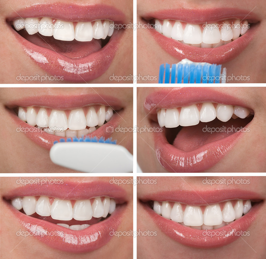 Healthy teeth dentistry collage — Foto Stock #6123351