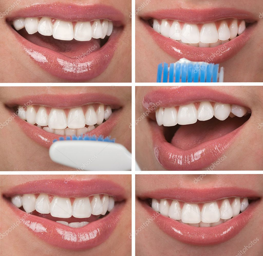 Healthy teeth dentistry collage — Stock Photo #6123351