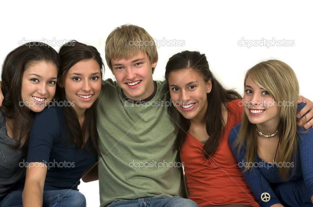 Diverse group of happy friends — Stock Photo #6243966