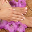 Pedicure and Manicure Spa — Stock Photo