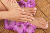 Pedicure en manicure spa — Stockfoto