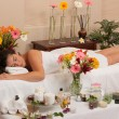 Foto Stock: Massage Skincare Spa