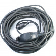 Black electric cable - Foto de Stock