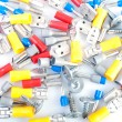 Electrical terminals and  screws — Stock Photo